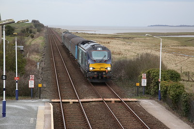 68017 (68004 rear) arr Kirkby in Furness, 2C41 14.37 Barrow-Carlisle - 06/04/18