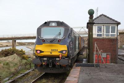 68004 dep Sellafield, on rear of 2C41 14.37 Barrow-Carlisle - 06/04/18
