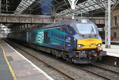 68017 (68004 rear), Preston, 2C47 10.03 to Barrow - 06/04/18