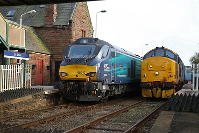 68017 / 37403, St. Bees, on rear of 2C42 17.37 Carlisle-Barrow / 2C47 17.31 Barrow-Carlisle - 27/04/18
