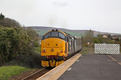 37403 dep Foxfield, on rear of 2C34 14.35 Carlisle-Barrow - 27/04/18