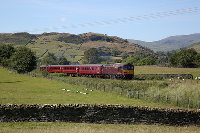 33029 (57316 rear) leaving Staveley, 2Z26 15.20 Windermere-Oxenholme - 24/06/18