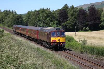 33029 (57316 rear) arrives at Burneside, 2Z24 13.20 Windermere-Oxenholme - 24/06/18