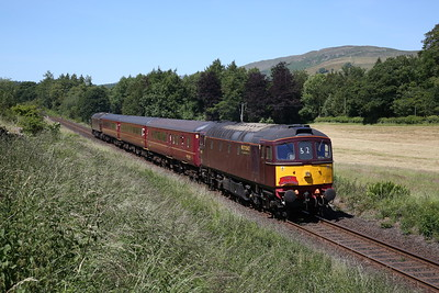 33029 (57316 rear) arrives at Burneside, 2Z24 13.20 Windermere-Oxenholme - 24/06/18
