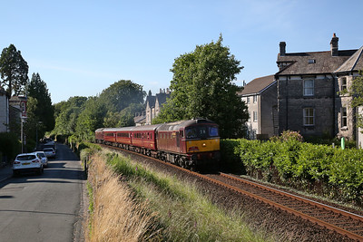 33029 (57316 rear) thrashes up Kendal bank, 2Z28 17.20 Windermere-Oxenholme - 24/06/18