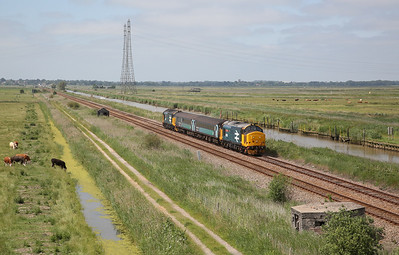 Anglia 37s on the short set, from the lineside, 26th-29th June 2019