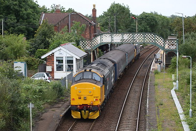 37407 (37424 front) arr Acle, on rear of 2P20 12.36 Norwich-Great Yarmouth - 27/06/19