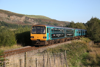 143616 just South of Pontlottyn, on rear of 2P87 17.27 Rhymney-Penarth