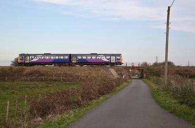142051 leaving Moss Side, 2S68 14.35 Preston-Blackpool South - 30/10/19