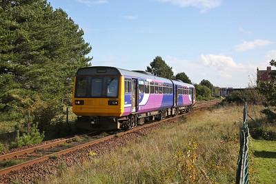 142029 leaving Ansdell & Fairhaven, 2S66 12.35 Preston-Blackpool South - 17/10/19