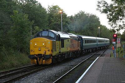 37421, Rhymney, shunting the ECS off 2R24 17.46 ex Cardiff Central into the sidings - 13/09/19