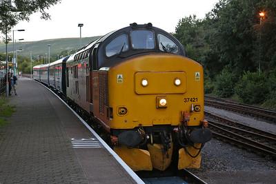 37421, Rhymney, 2R24 17.46 ex Cardiff Central - 13/09/19