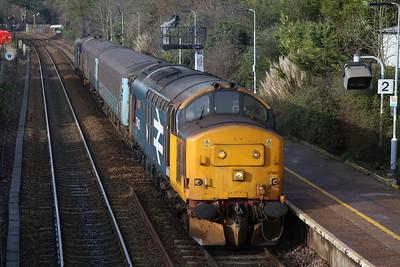 Caledonian Sleeper, Anglia 90s & 37s on short set, 18th-20th January 2019