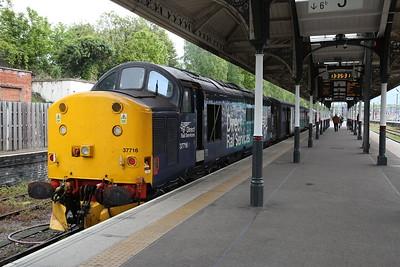37716 / 37423, Norwich, 2J77 12.57 ex Lowestoft (Vice DMU) - 10/05/19