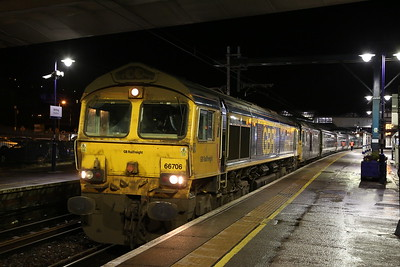 66706 (with 73969 for ETS), Stirling, 1M16 20.45 Inverness-London Euston - 14/01/20