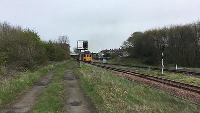 37403 leaves Maryport, 2C49 11.40 Barrow-Carlisle - 27/04/18