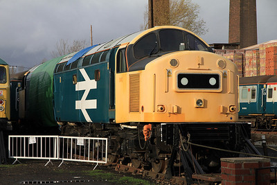 40145 in the yard at BH awaiting repairs to be completed on it's main generator - 04/12/2011.