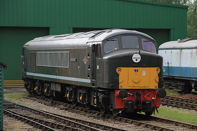 D8 outside the new Peak Rail shed at Rowsley South - 03/09/11.