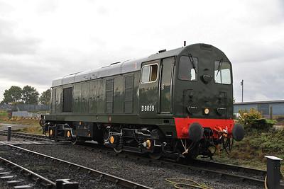 D8059 (20059) arrives light engine at Kidderminster - 30/10/11.