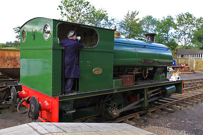 'F.C.Tingey' (P2084/1948) is readied for service at Kirkby Stephen East - 28/08/11.