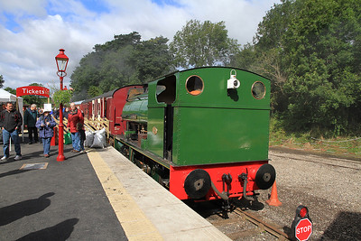 'F.C.Tingey' (P2084/1948) at Kirkby Stephen East having just worked in from 'Green Riggs farm' - 28/08/11.