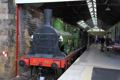 LNER 910 on display at Kirkby Stephen East - 28/08/11.