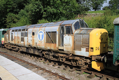 37674 awaiting restoration at Kirkby Stephen East - 28/08/11.
