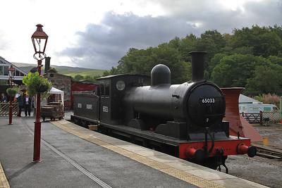 65033 on display at Kirkby Stephen East - 28/08/11.