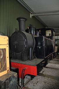 La Meuse 3243/1926 (with incorrect worksplate 3355/1929) inside the shed at Oak Tree Halt - 17/09/11.