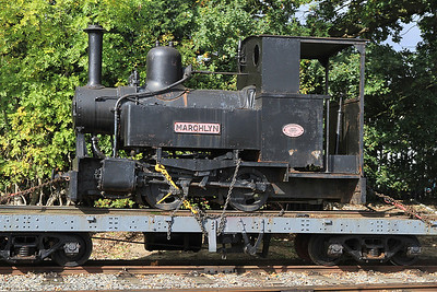 Unrestored 'Marchlyn' (AE 2067/1933, ex Penrhyn Quarry & USA) forms an interesting part of the consist in a 'mixed train' - 17/09/11.