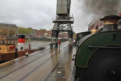 P 1940/1937 'Henbury' pushes us along the quayside at Princes Wharf - 04/11/12.