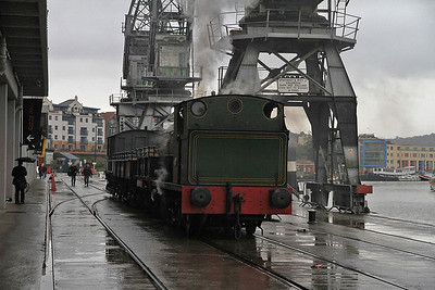 P 1940/1937 'Henbury' brings the stock along the quayside at Princes Wharf for our charter - 04/11/12.