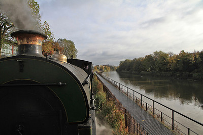 "heading alongside the river Avon on the ""Create Centre"" branch - 04/11/12."