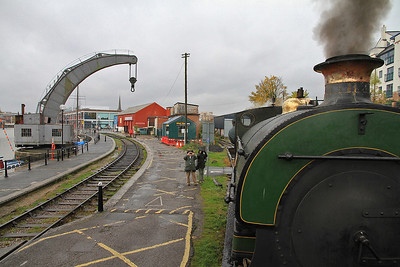 "P 1940/1937 'Henbury' taking the ""MShed"" branch - 04/11/12."