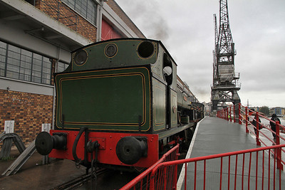 P 1940/1937 'Henbury' in the Princes Wharf platform with the stock for our charter - 04/11/12.