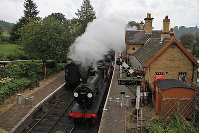30120 + 31806 arr Arley, 07.18 Bridgnorth-Kidderminster - 23/09/12.