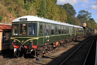 2-car DMU 56208+50933 in the sidings at Bewdley - 06/10/12.