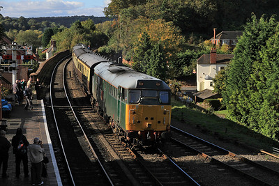 31601 brings the ECS into Bewdley for the 15.01 shuttle to Kidderminster - 06/10/12.