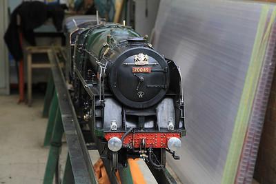 5 inch gauge 'Brit' 70049,  Quainton Rd. - 05/05/13.