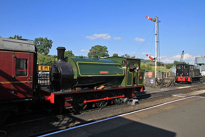 'Beatrice' (HE 2705/1945), Embsay, 16.30 to Bolton Abbey  - 26/08/13.