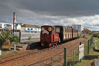 EHLR No.3 'Jack' (AK 23/1988), Eastoke Corner, 11.20 to Beachlands - 07/09/13.