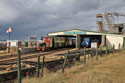 EHLR No.3 'Jack' (AK 23/1988), Beachlands, 11.00 to Eastoke Corner - 07/09/13.