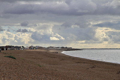 the beach at Hayling Island - 07/09/13.