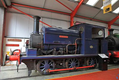 MW 1601/1903 'Matthew Murray', Ex APCM Kent & Stone, Staffs, inside the 'Engine House' at Moor Rd.