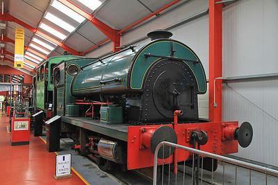 P 2103/1950, Ex CEGB Croydon, inside the 'Engine House' at Moor Rd.