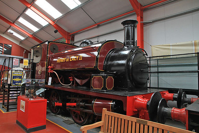 HC 1309/1917 'Henry de Lacy II', Ex Kirkstall Forge, Leeds, inside the 'Engine House' at Moor Rd.
