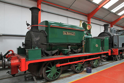 MW 1210/1891 'Sir Berkeley', Ex Cranford Ironstone, Northants, inside the 'Engine House' at Moor Rd.