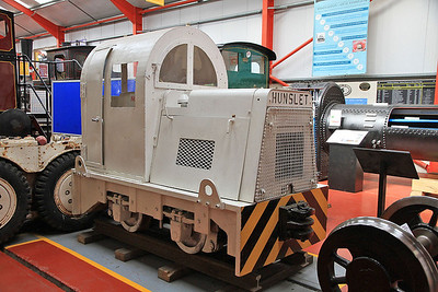 Ex NCB mine loco HE 6273/1965 inside the 'Engine House' at Moor Rd.