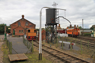 View from the EARM's platform at Chappel & Wakes Colne - the 'Tram Engine' on driver for a fiver turns is heavily rebuilt / disguised JF 4220039/1965 (ex- Shell, Stanford-le-Hope, Essex)  - 05/10/13.