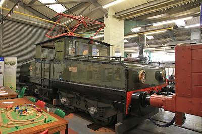 Siemens 457/1909 E4 (Ex-NCB, Harton, South Shields) on display inside the Stephenson Railway museum - 01/06/13.